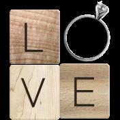 Rustic Charm- Love Word Art