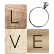 Rustic Charm- Love Word Art