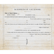 Rustic Charm- Marriage License