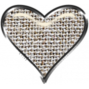 Rustic Charm- Heart Charm Brown