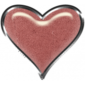 Rustic Charm- Heart Charm Pink