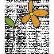 Look, A Book!- Orange Flower Doodle