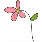 Look, A Book!- Pink Flower Doodle