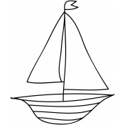 Boat Doodle Template 001