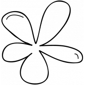 Flower Doodle Template 021