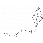 Kite Doodle Template 001