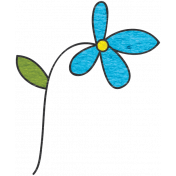 Look, A Book!- Teal Flower Doodle