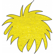 Look, A Book!- Yellow Fuzz Doodle