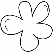 Flower Doodle Template 022