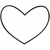 Heart Doodle Template 014