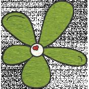 Look, A Book!- Green Flower Doodle