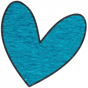 Look, A Book!- Blue Heart Doodle