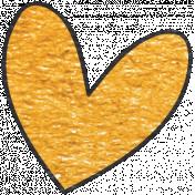 Look, A Book!- Orange Heart Doodle