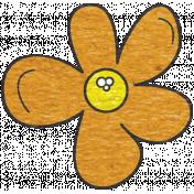 Look, A Book!- Orange Flower Doodle 2