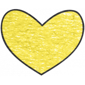 Look, A Book!- Yellow Heart Doodle