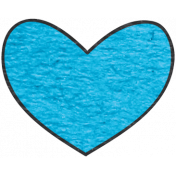 Look, A Book!- Teal Heart Doodle