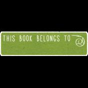 Look, A Book!- This Book Belongs To Word Art