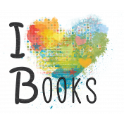 Look, A Book!- I Heart Books Word Art