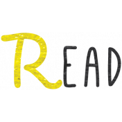 Look, A Book!- Read Word Art