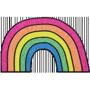 Good Day- Felt Rainbow Doodle