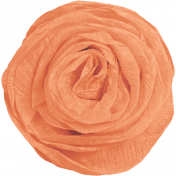Good Day- Orange Paper Flower
