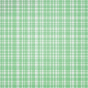 Good Day- Green Plaid Paper