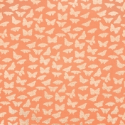 Good Day- Orange Butterfly Paper
