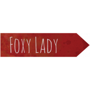 Woodland Winter- Foxy Lady Word Art