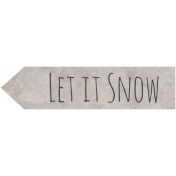Woodland Winter- Let It Snow Word Art