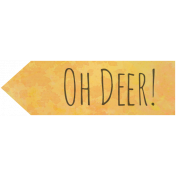 Woodland Winter- Oh Deer Word Art