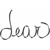 Woodland Winter- Dear Word Art