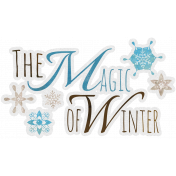 Woodland Winter- Magic of Winter Word Art