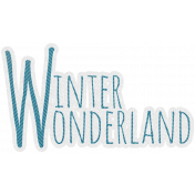 Woodland Winter- Winter Wonderland Word Art