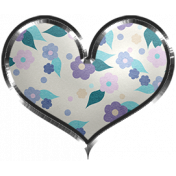 Winter Arabesque- Floral Heart