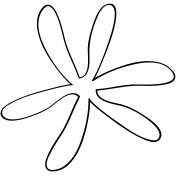 Flower Doodle Template 023