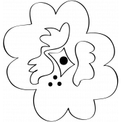 Flower Doodle Template 024