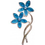 Reflections of Strength- Flower Brooch