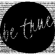 Be True Word Art Template