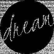Dream Word Art Template