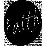 Faith Word Art Template 002