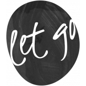 Let Go Word Art Template