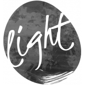Light Word Art Template