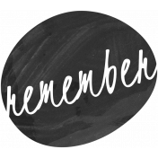 Remember Word Art Template