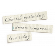 Reflections of Strength- Shadowed Cherish, Dream, Live Word Art