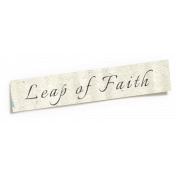 Reflections of Strength- Shadowed Leap of Faith Word Art