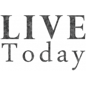 Reflections of Strength- Live Today Word Art
