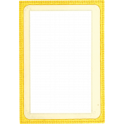 Reflections of Strength Mini Kit- Yellow Paper Frame