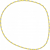 Reflections of Strength- Yellow Stitched Circle