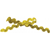 Reflections of Strength- Yellow Glitter Bow