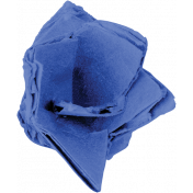Reflections of Strength- Blue Cardboard Flower